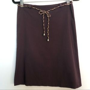 Vintage Forever 21 | Brown Stretchy Midi Skirt